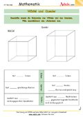 geometrische k rper figuren arbeitsbl tter mathematik geometrie. Black Bedroom Furniture Sets. Home Design Ideas