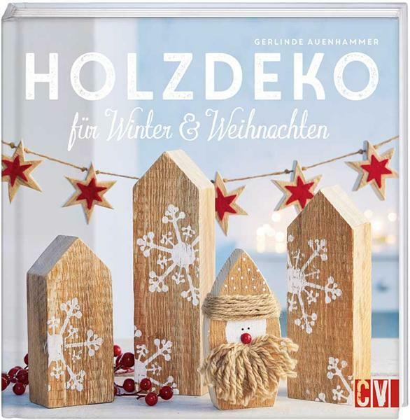 buch holzdeko f r winter weihnachten. Black Bedroom Furniture Sets. Home Design Ideas