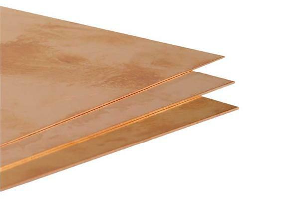 kupferblech 0 6 mm 20 x 40 cm zuschnittservice. Black Bedroom Furniture Sets. Home Design Ideas