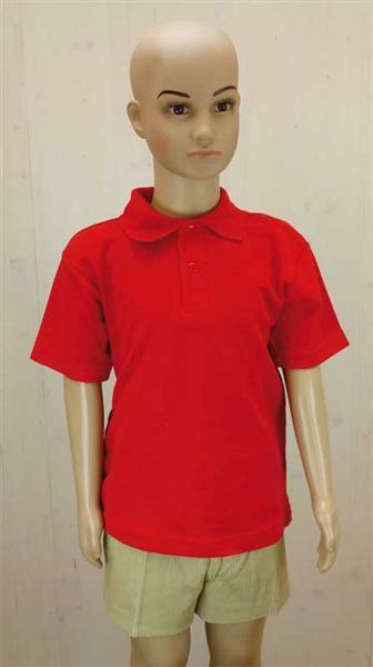 Polo-Shirt Kinder - rot, XS