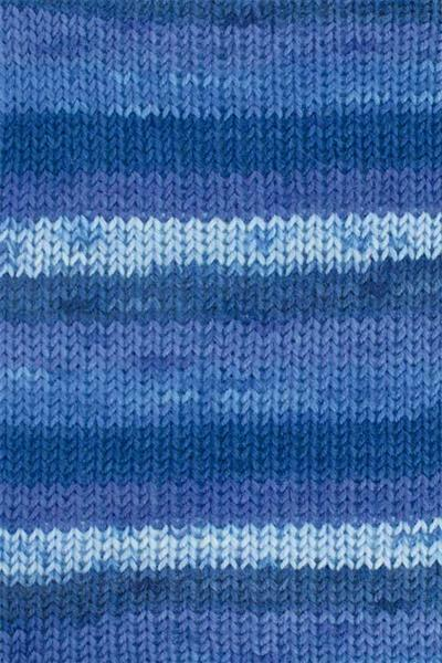 Sockenwolle Hot Socks color - 50 g, Farbmix blau